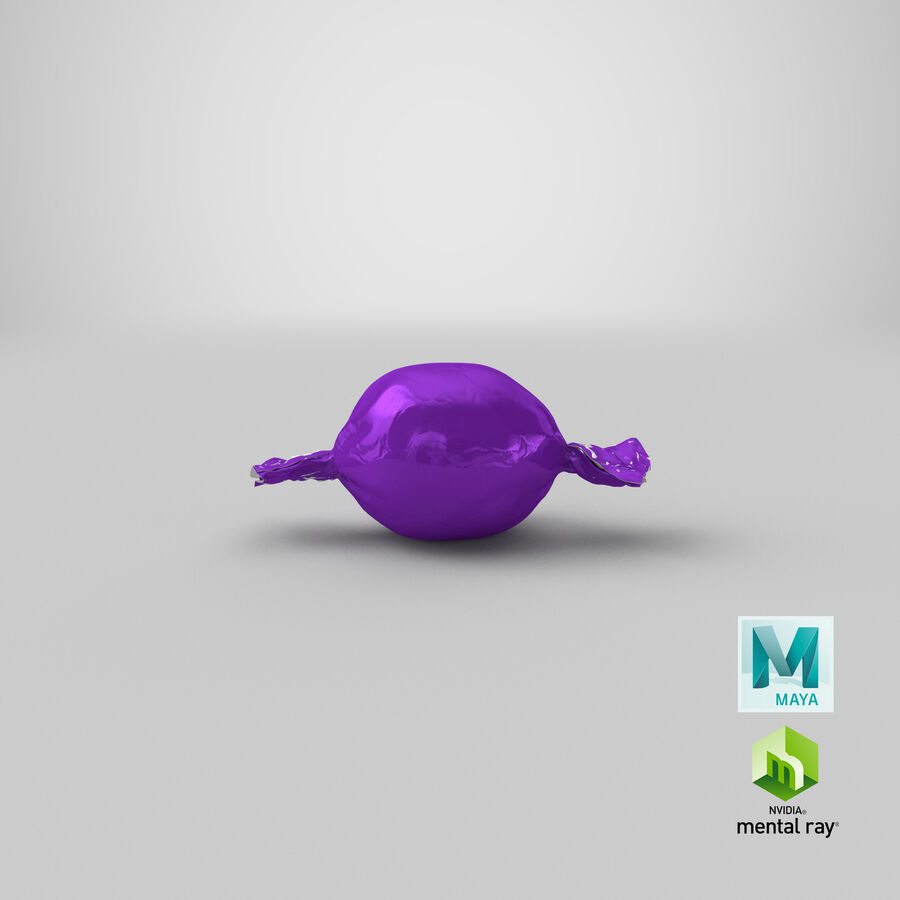 Doces Duros Roxo royalty-free 3d model - Preview no. 20