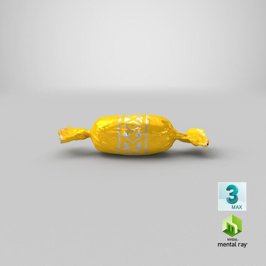 Doces Duros Amarelo royalty-free 3d model - Preview no. 22