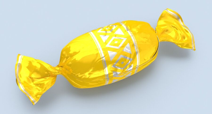 Doces Duros Amarelo royalty-free 3d model - Preview no. 9