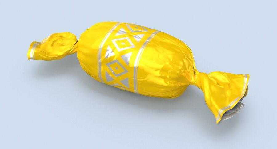 Doces Duros Amarelo royalty-free 3d model - Preview no. 6