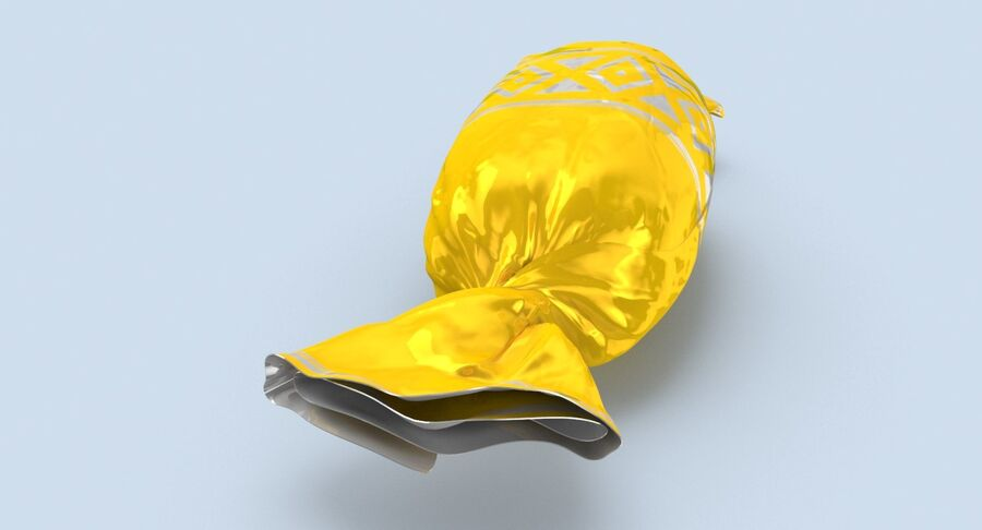 Doces Duros Amarelo royalty-free 3d model - Preview no. 4