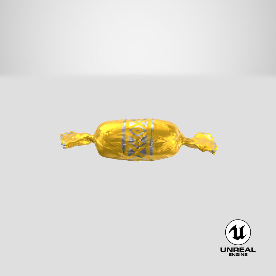 Doces Duros Amarelo royalty-free 3d model - Preview no. 24