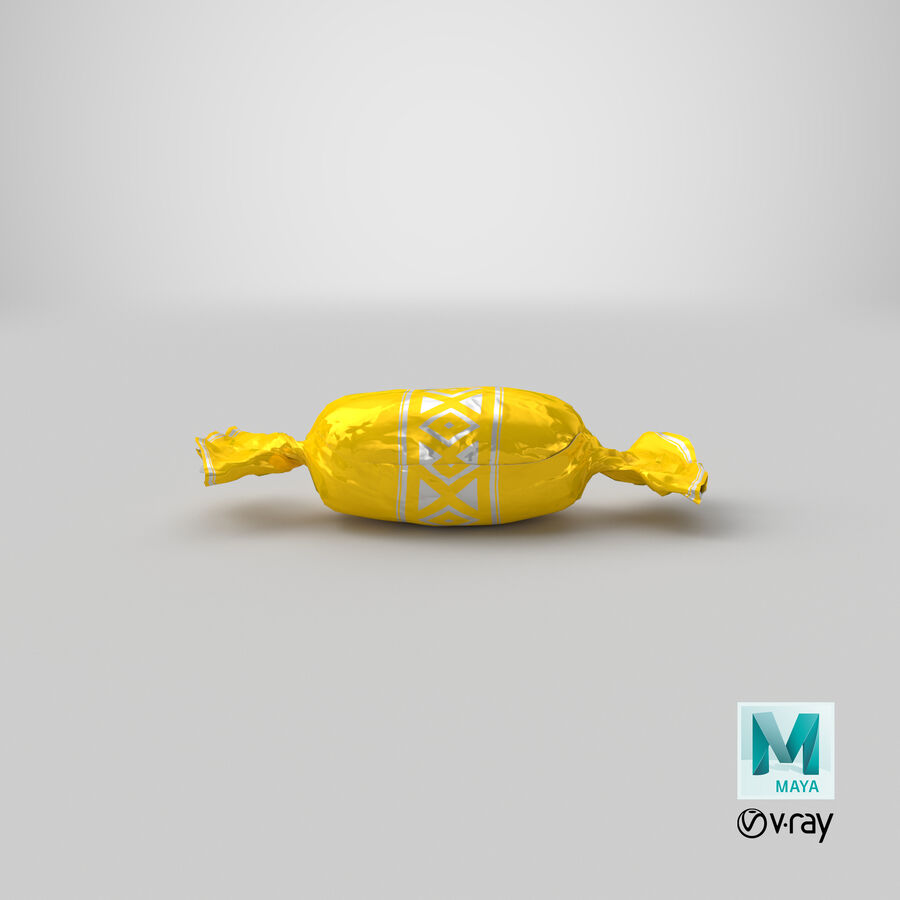 Doces Duros Amarelo royalty-free 3d model - Preview no. 19