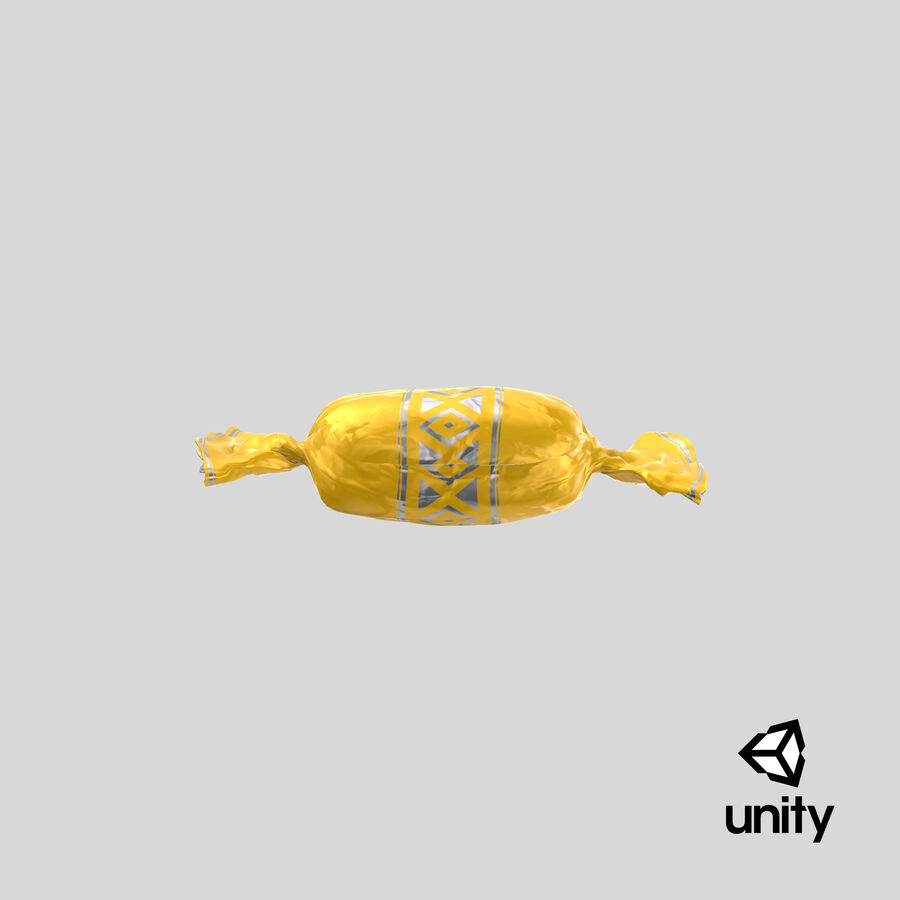 Doces Duros Amarelo royalty-free 3d model - Preview no. 23
