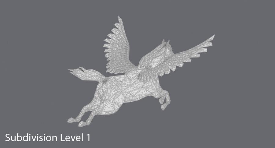 페가수스 비행 royalty-free 3d model - Preview no. 17