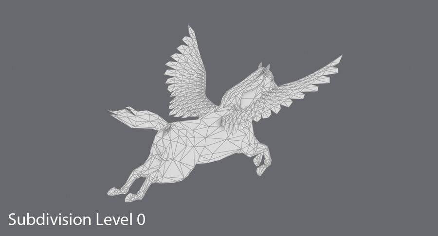 페가수스 비행 royalty-free 3d model - Preview no. 14