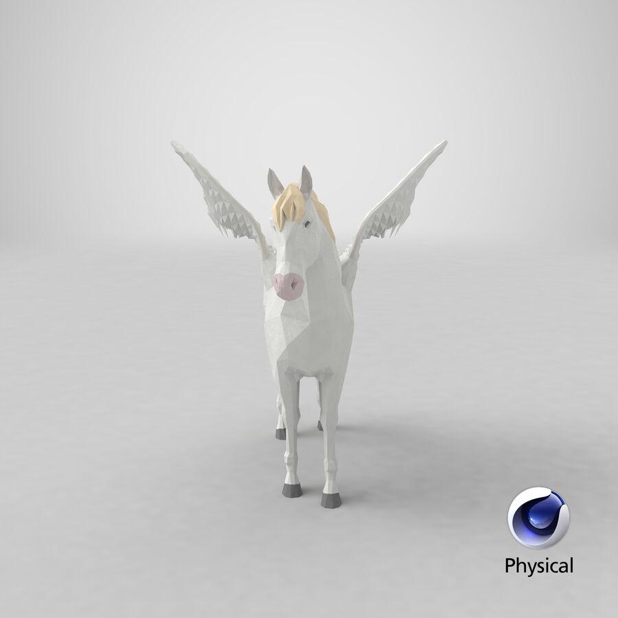 Pegasus stehend royalty-free 3d model - Preview no. 24