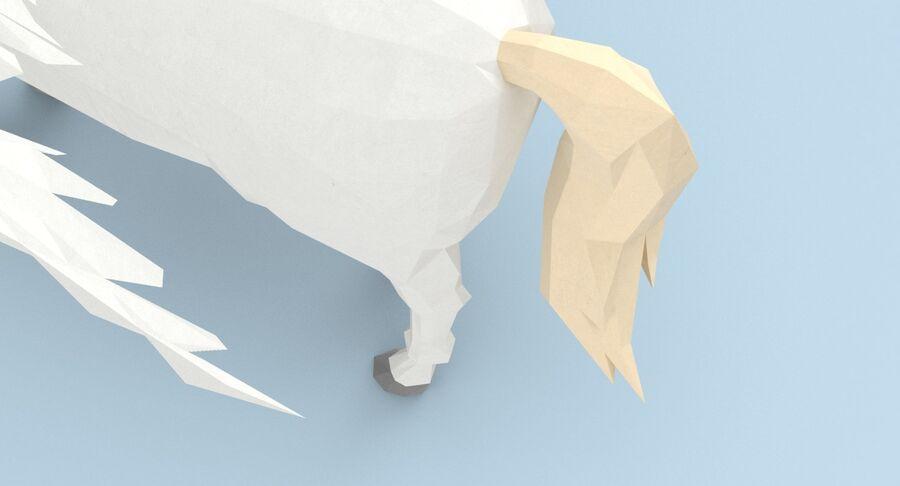 Pegasus stehend royalty-free 3d model - Preview no. 11