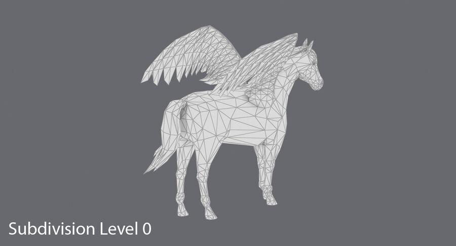 Pegasus stehend royalty-free 3d model - Preview no. 15