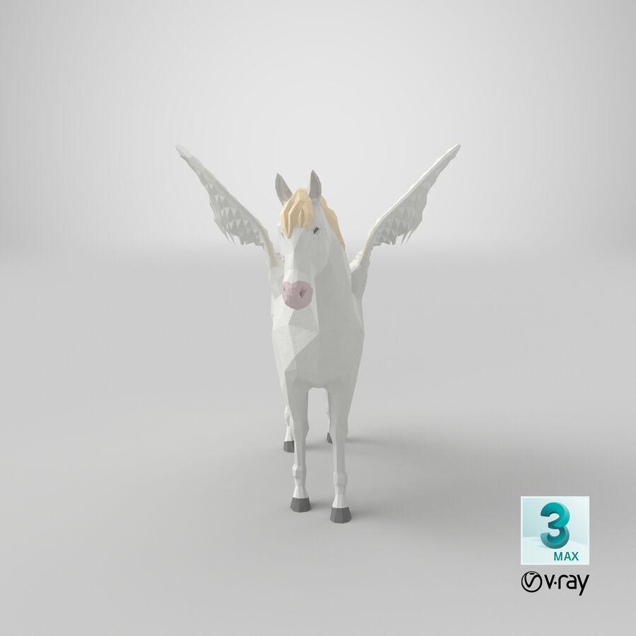 Pegasus stehend royalty-free 3d model - Preview no. 22