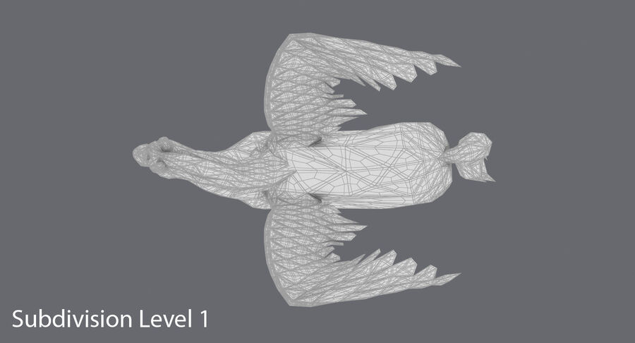 Pegasus stehend royalty-free 3d model - Preview no. 17