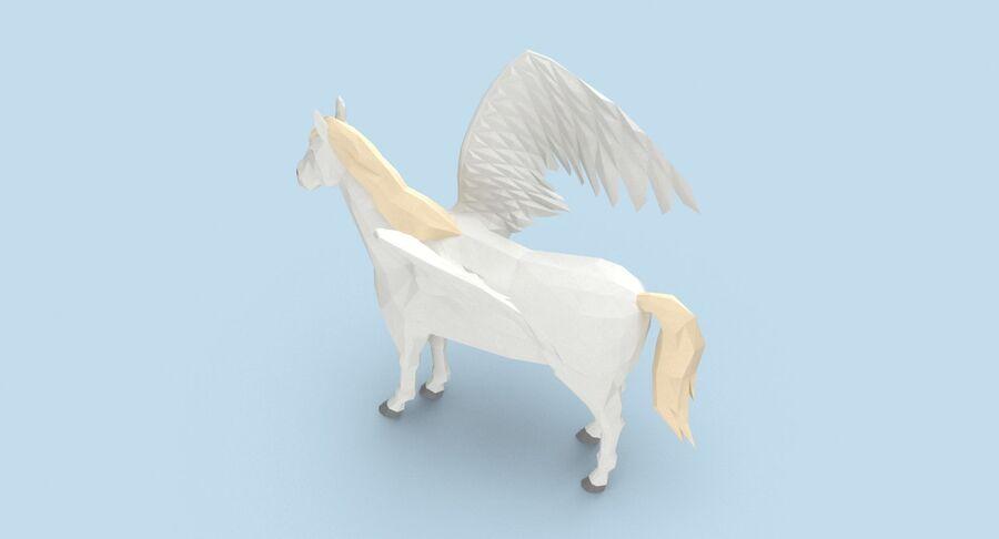 Pegasus stehend royalty-free 3d model - Preview no. 9