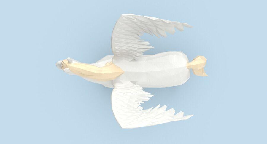 Pegasus stehend royalty-free 3d model - Preview no. 5
