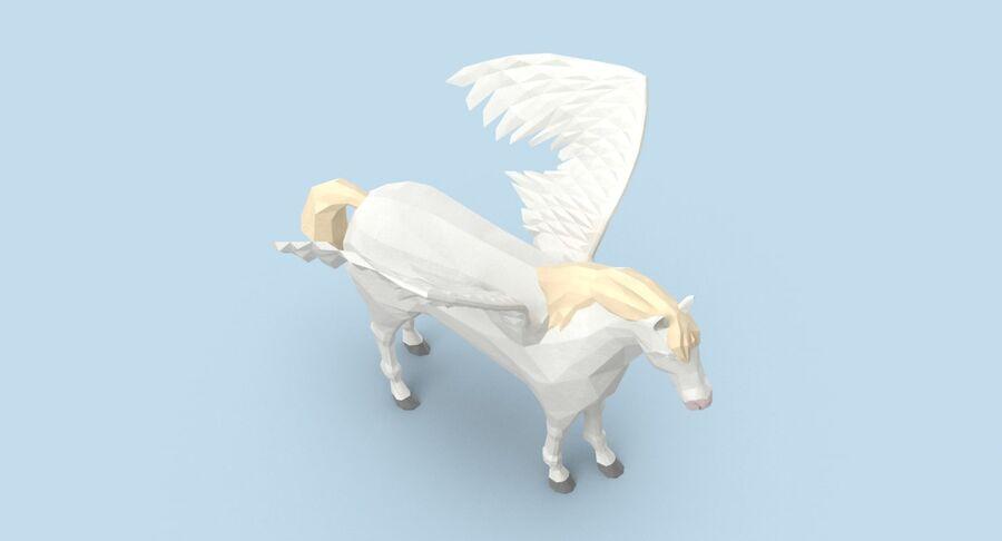Pegasus stehend royalty-free 3d model - Preview no. 4