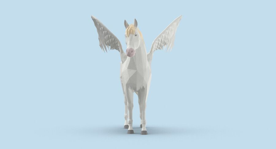 Pegasus stehend royalty-free 3d model - Preview no. 8