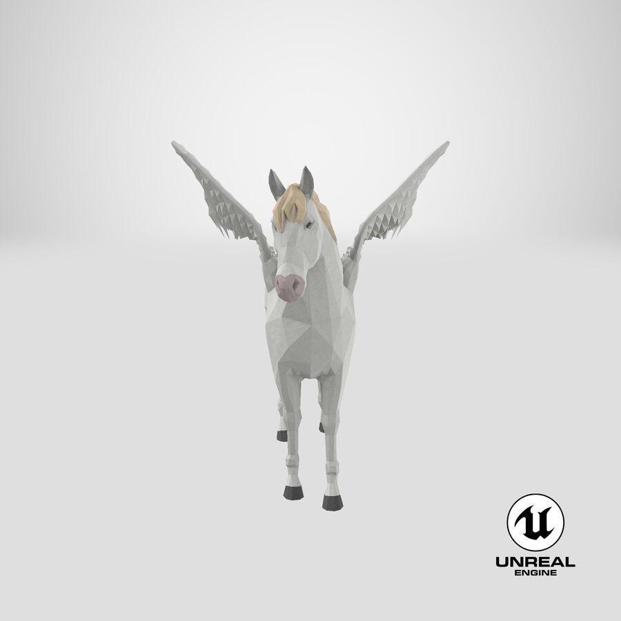 Pegasus stehend royalty-free 3d model - Preview no. 25
