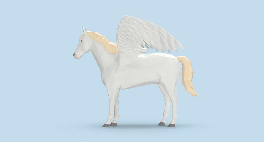 Pegasus stehend royalty-free 3d model - Preview no. 7