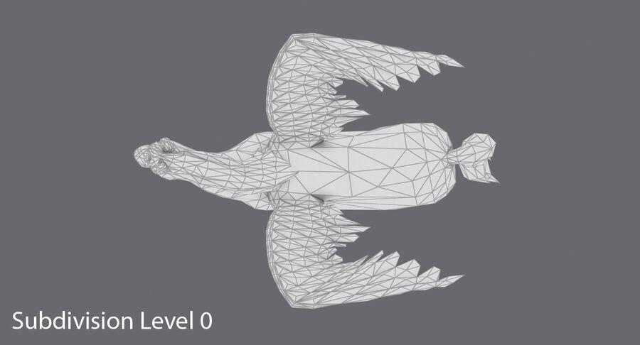 Pegasus stehend royalty-free 3d model - Preview no. 14