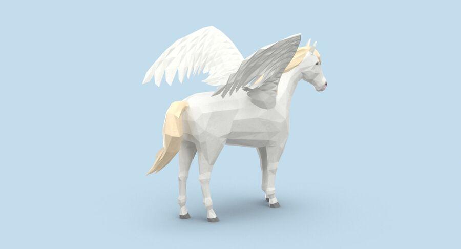 Pegasus stehend royalty-free 3d model - Preview no. 6