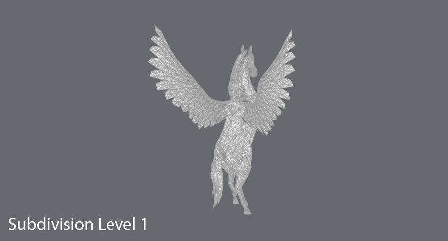 Pegasus uppfödning royalty-free 3d model - Preview no. 17