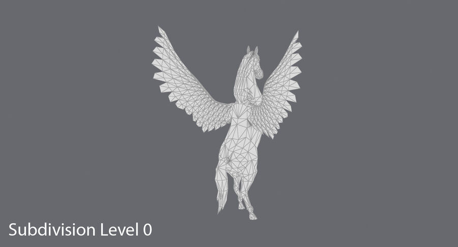 Pegasus uppfödning royalty-free 3d model - Preview no. 14