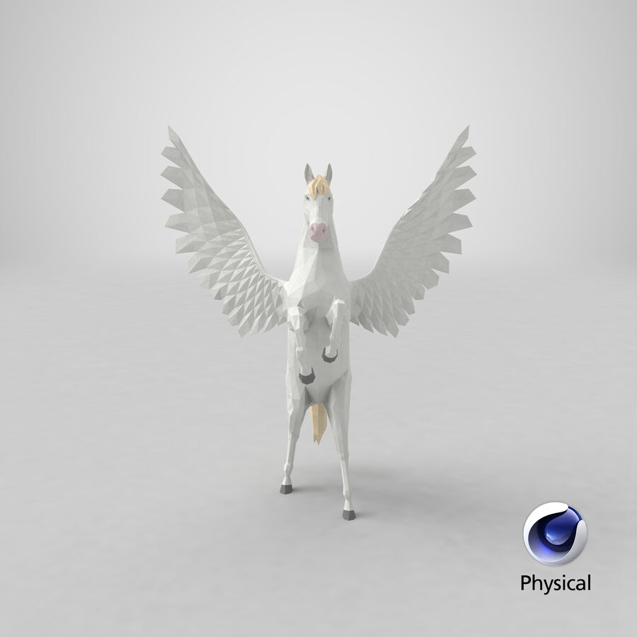 Pegasus uppfödning royalty-free 3d model - Preview no. 23