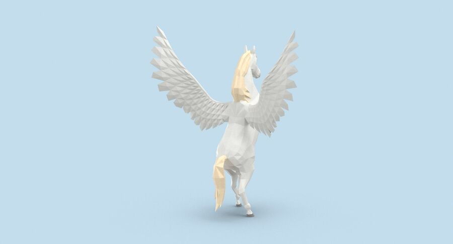 Pegasus uppfödning royalty-free 3d model - Preview no. 6