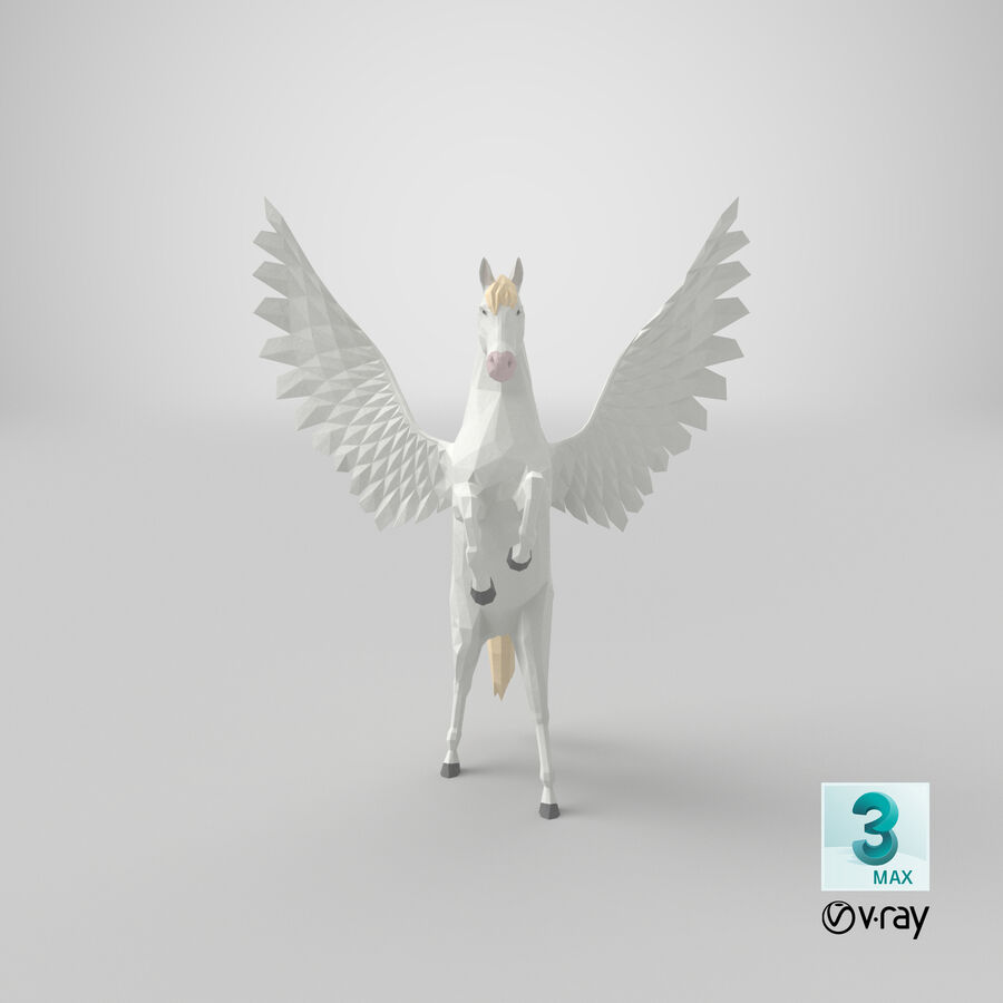 Pegasus uppfödning royalty-free 3d model - Preview no. 21