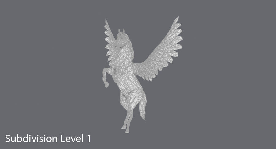 Pegasus uppfödning royalty-free 3d model - Preview no. 15