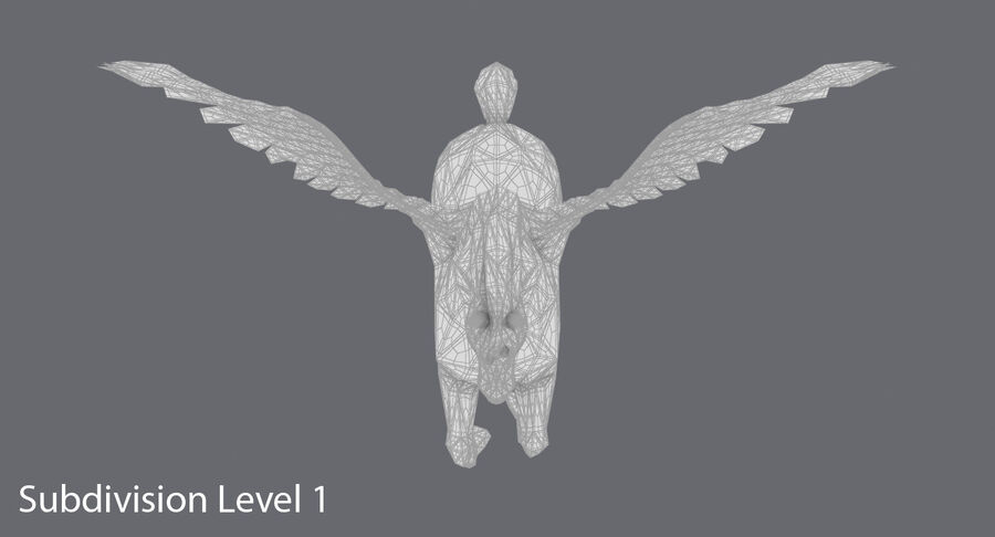 Pegasus uppfödning royalty-free 3d model - Preview no. 16