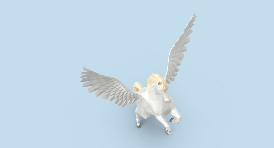 Pegasus uppfödning royalty-free 3d model - Preview no. 4