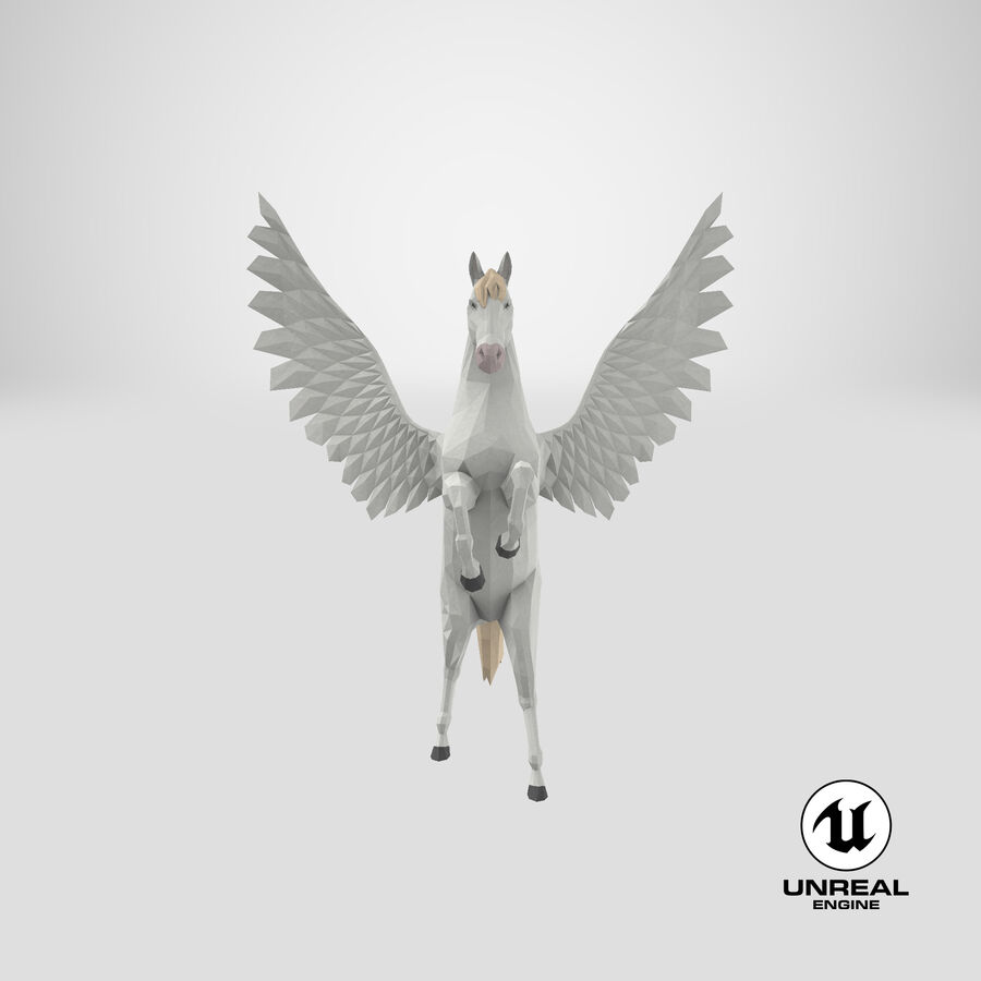 Pegasus uppfödning royalty-free 3d model - Preview no. 24