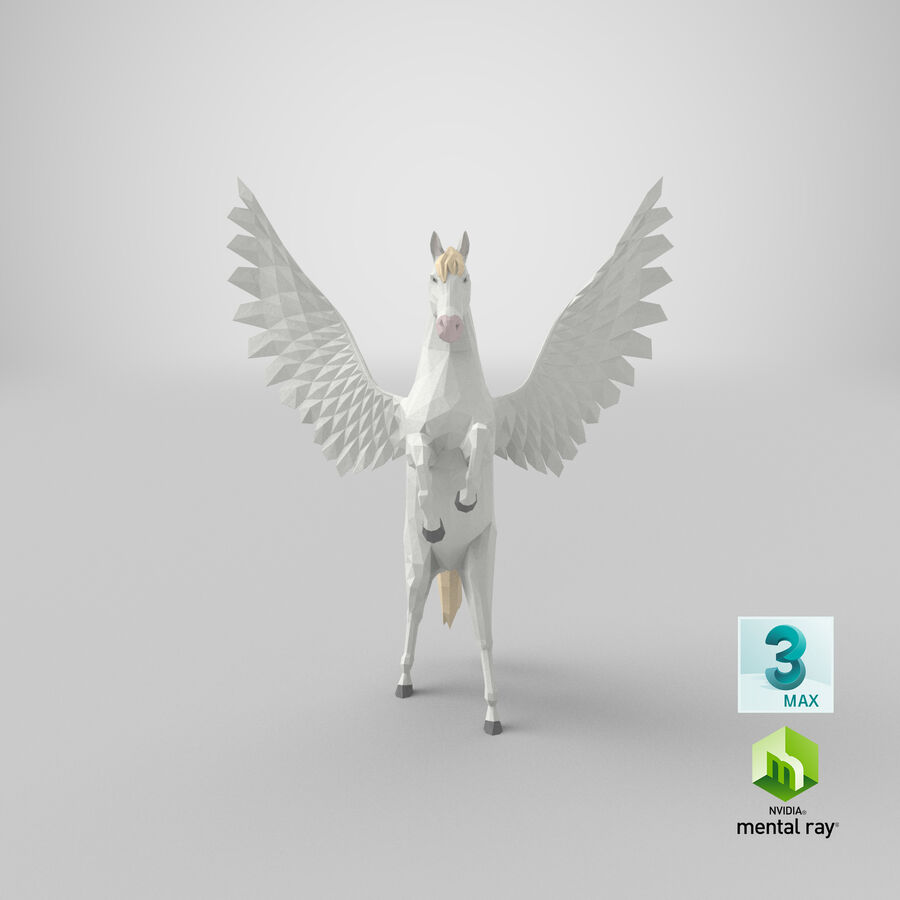Pegasus uppfödning royalty-free 3d model - Preview no. 22