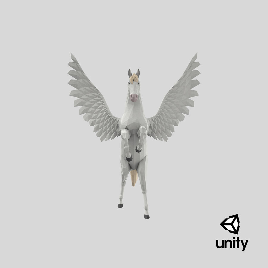 Pegasus uppfödning royalty-free 3d model - Preview no. 25