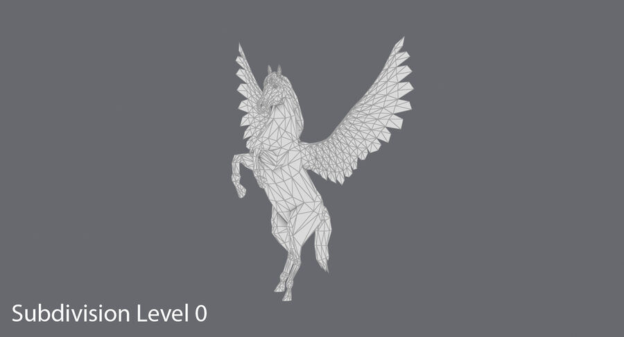 Pegasus uppfödning royalty-free 3d model - Preview no. 12