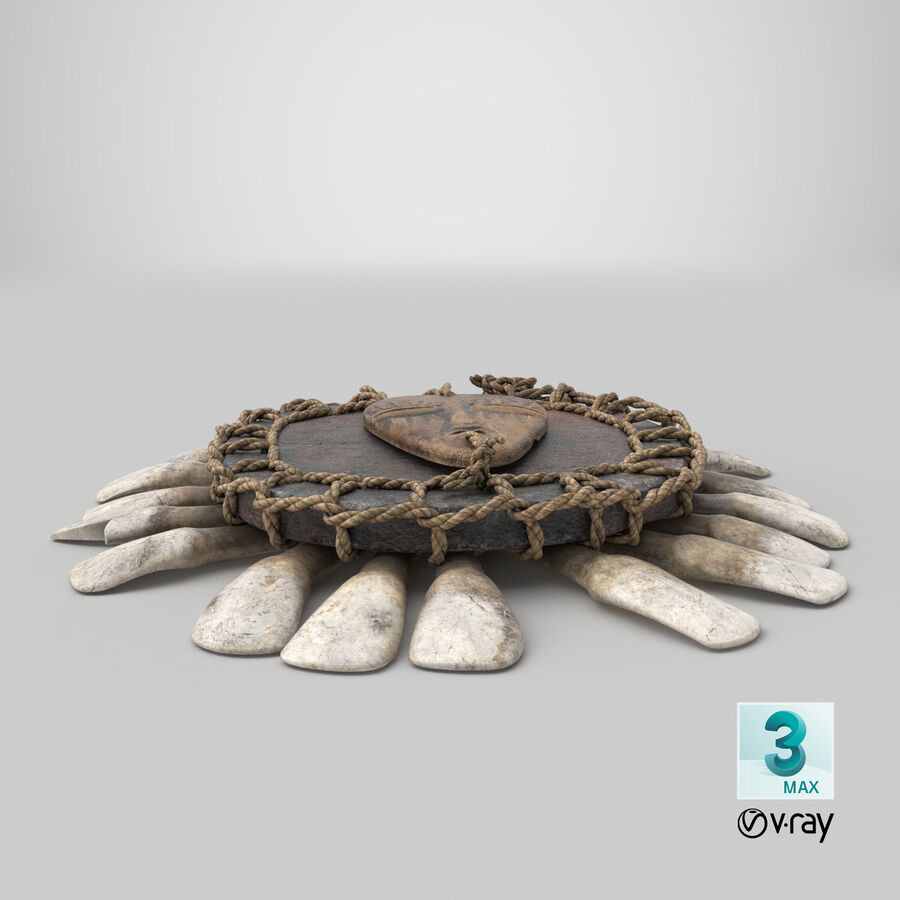 Voodoo Amulet royalty-free 3d model - Preview no. 24