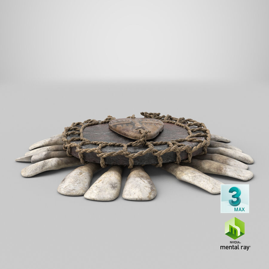 Voodoo Amulet royalty-free 3d model - Preview no. 25