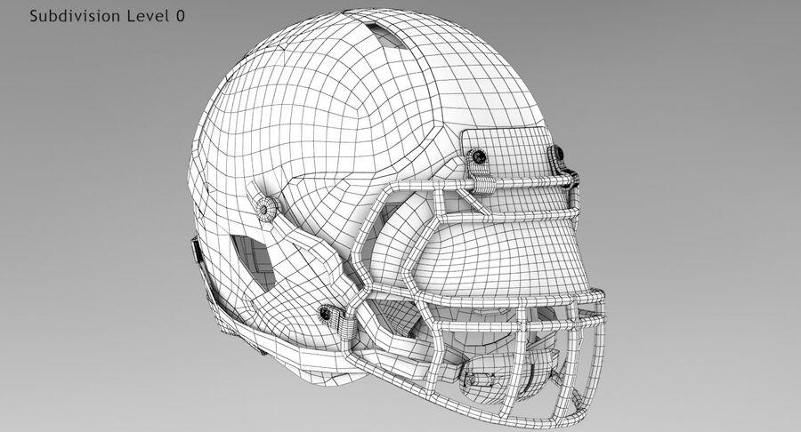 Американский футбольный шлем royalty-free 3d model - Preview no. 13