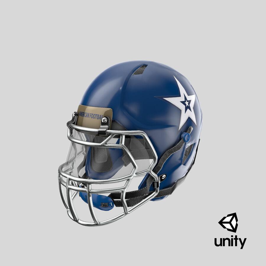 Американский футбольный шлем royalty-free 3d model - Preview no. 24