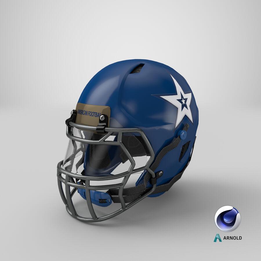 Американский футбольный шлем royalty-free 3d model - Preview no. 23