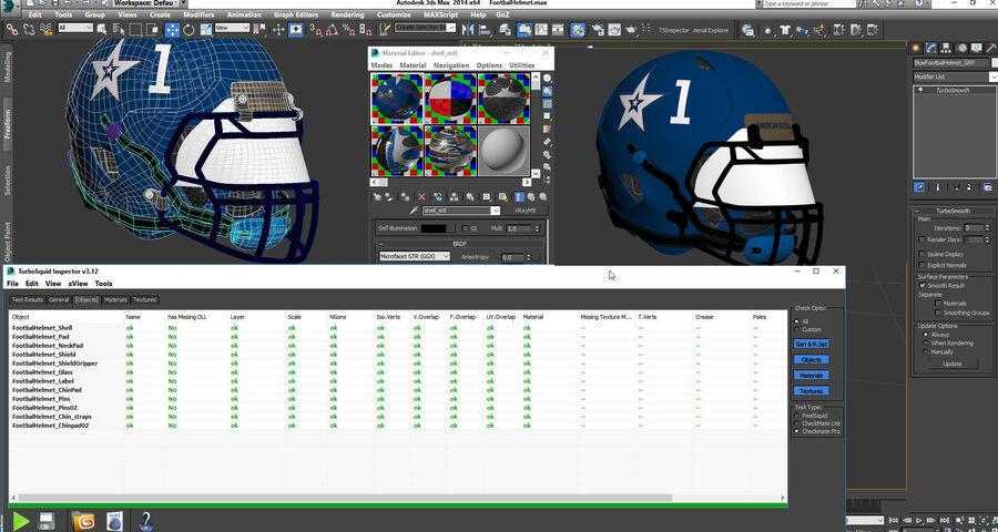 Американский футбольный шлем royalty-free 3d model - Preview no. 20
