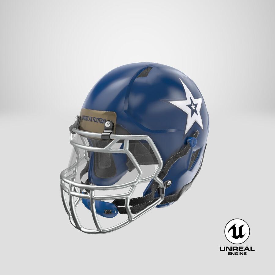 Американский футбольный шлем royalty-free 3d model - Preview no. 25
