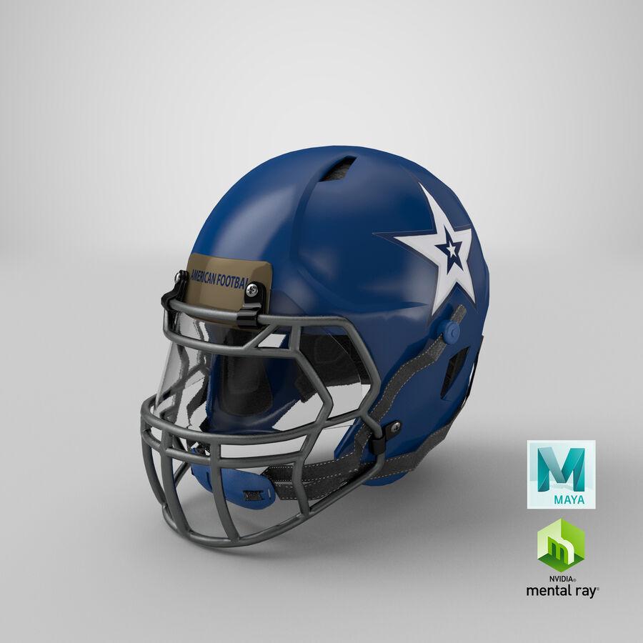 Американский футбольный шлем royalty-free 3d model - Preview no. 30