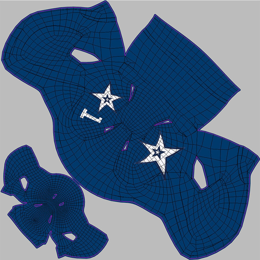 Американский футбольный шлем royalty-free 3d model - Preview no. 17