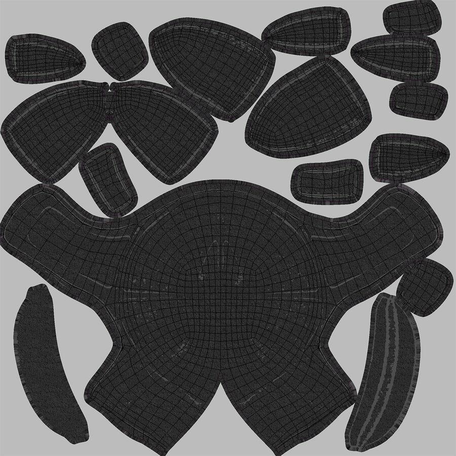 Американский футбольный шлем royalty-free 3d model - Preview no. 18