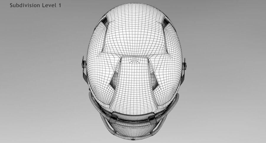 Американский футбольный шлем royalty-free 3d model - Preview no. 16