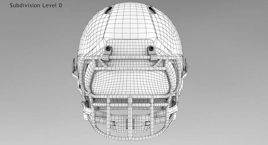 Американский футбольный шлем royalty-free 3d model - Preview no. 11