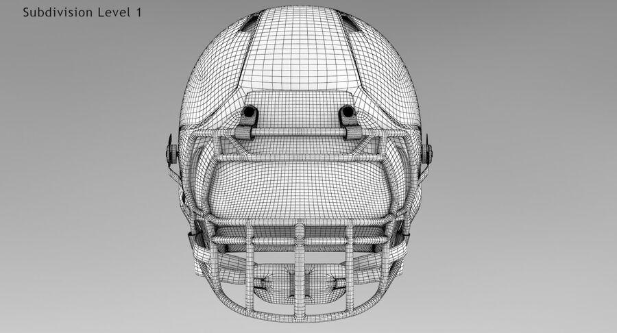 Американский футбольный шлем royalty-free 3d model - Preview no. 12