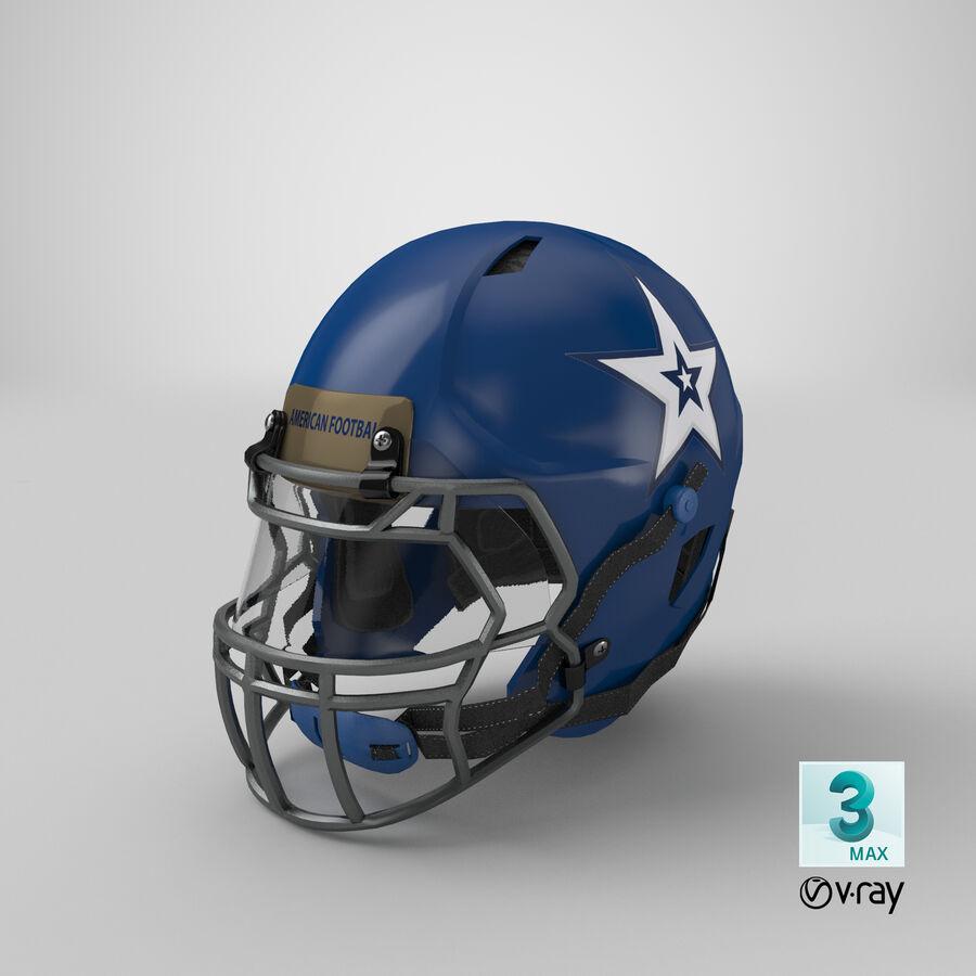 Американский футбольный шлем royalty-free 3d model - Preview no. 28