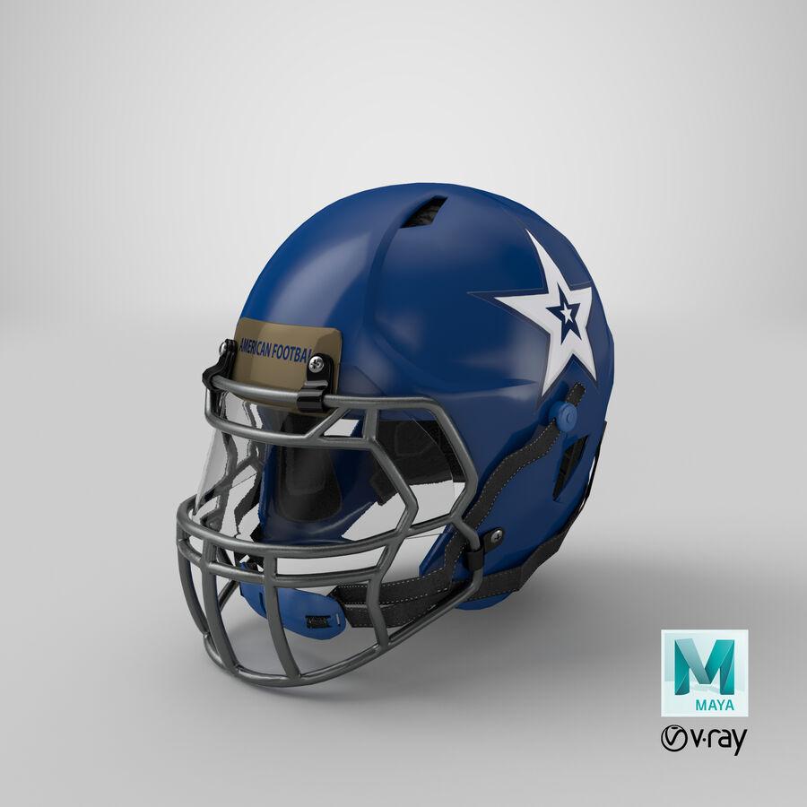 Американский футбольный шлем royalty-free 3d model - Preview no. 31